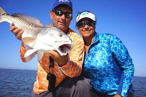 Capt. Brent Ballay and Meredith Ballay of Cast n Blast Fishing Charters