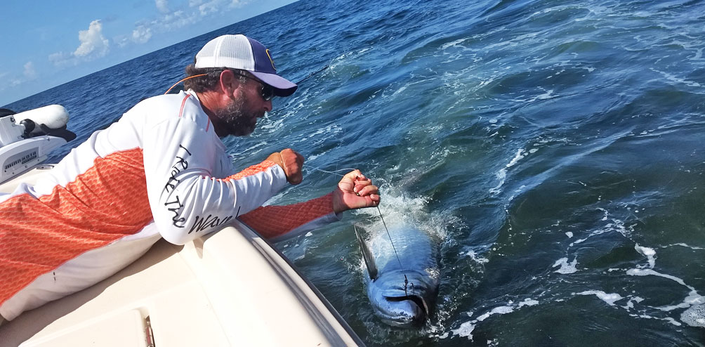 Tarpon fishing with Capt Brett Ballay out of Venice, Louisiana
